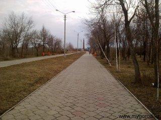Аллея - Парк Победы (апрель)